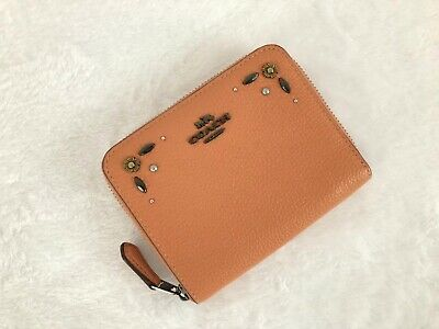 Detail Zip Wallet (Coach Small Zip Around Wallet With Prairie Rivets Detail 29689 Dark Blush)