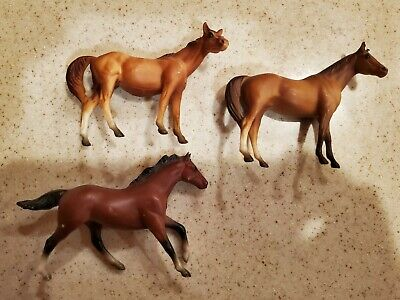 Lot 3 Vintage Breyer USA Molded Assorted Traditional Horses Used
