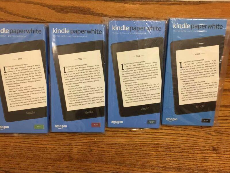 New Amazon Kindle Paperwhite (10th Generation) 32GB, Wi-Fi Black Blue Plum Sage