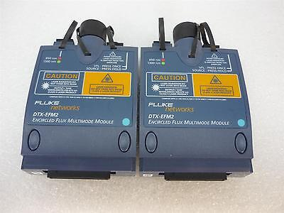 Fluke Set Of 2 Dtx-efm2 Encircle Flux Multimode Fiber Modules 850nm1300nm