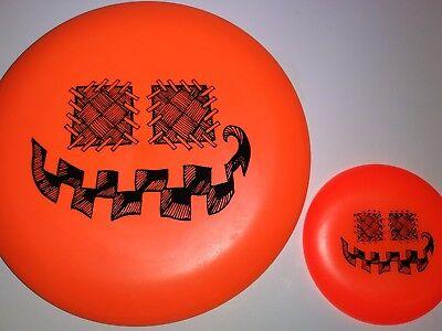 New Innova DX Aviar Halloween Pumpkin Stamp 175g + Mini - Disc Golf - Innova Halloween Discs