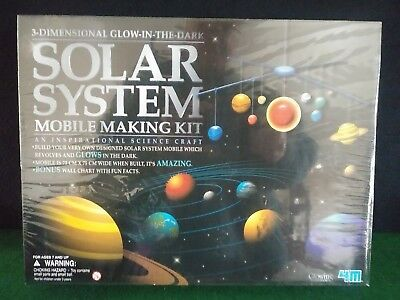 3 D Glow In The Dark Solar System Mobile Making Kit New Sealed