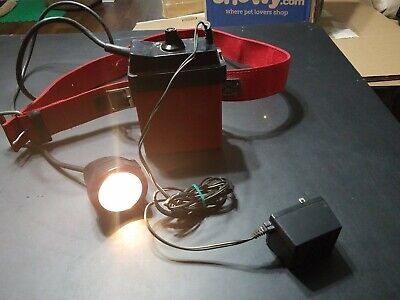 NITE LITE #NL682 Rechargeable Coon Hunting Light battery & belt 6 Volt Working