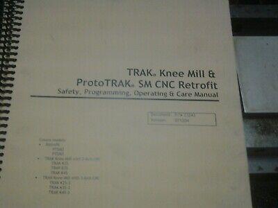 Southwestern Trak Knee Prototrak Sm Cnc Retrofitprogramingoperating Manual