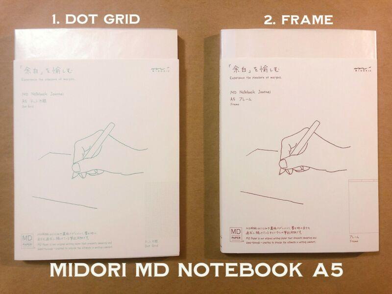MIDORI MD Notebook A5 2.FRAME notebook ships from USA Muji Japanese stationery