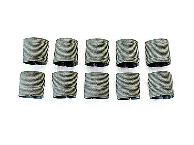"1"" Mil-spec Elastic Webbing Strap Keepers - Foliage Green - 10 Pack"