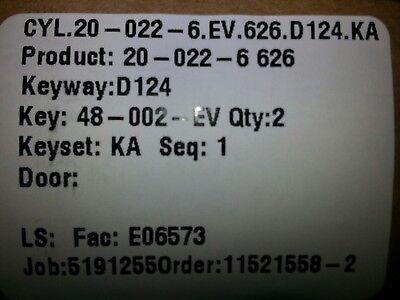 Schlage 22-022-626 Rim Cylinder D124 Restricted Everest Keyway With 2 Keys