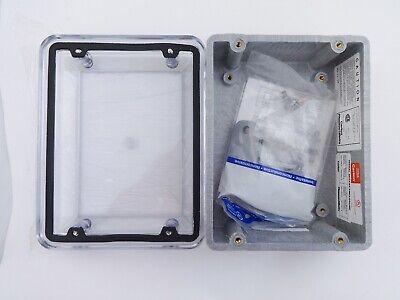 Nib Carlon Tb Cv863 Circuit Safe Jic Enclosure With Screw On Clear Cover