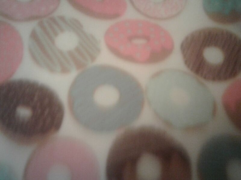 Donuts sprinkles personalized fleece blanket 48 x 60 valentines day gift