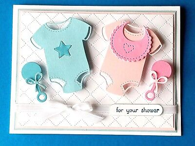 CUSTOM Twins Baby Shower Card - You Pick Colors - Boy Girl Neutral](Twins Baby Shower)