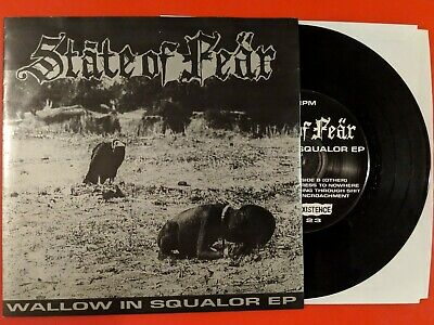 "State of Fear Wallow in Squalor 7"" Vinyl Record - Tragedy DOOM Hiatus Nausea"