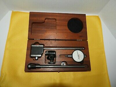 Starrett No. 657d Magnetic Base With No. 25-131 Dial Indicator W Wooden Case