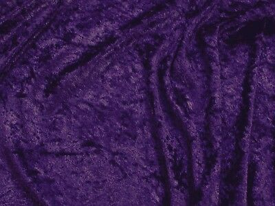 DARK PURPLE VELVET PANNE CRUSHED BACKDROP VELOUR STRETCH FABRIC 60
