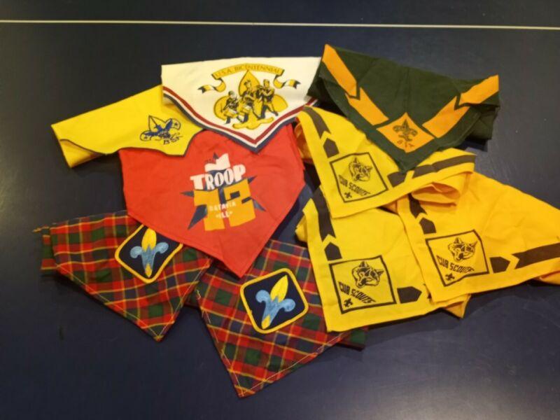 (9) Cub Scout, Webelos, Boy Scouts Neckerchiefs: Bicentennial Custom Troop +MORE