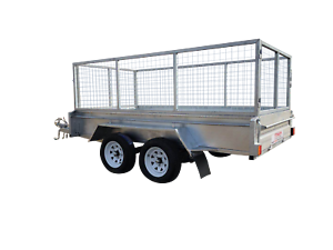 10x5 dual axle $44 p/w Galvanized 400mm sides 800mm cage Garbutt Townsville City Preview