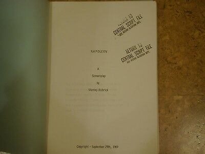 Extremely rare Stanley Kubrick Napoleon and Barry Lyndon production scripts