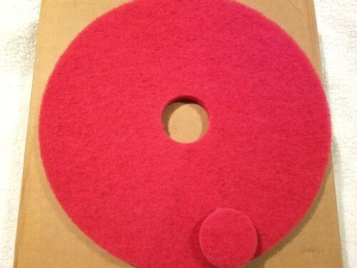 Glit/Microtron Red Buffing Floor Maintenance Pads 5-Pads 19 inch NEW