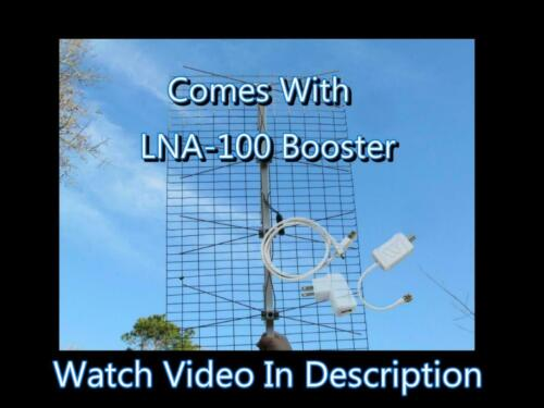 The Ultimate Outdoor TV Antenna with LNA-Boost 100 Amplifier 20+ DB Gain