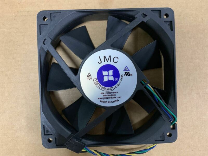 1PC JMC 1225-12 HBAPW 12CM 12025 12V 0.63A 4-wire large air volume cooling fan