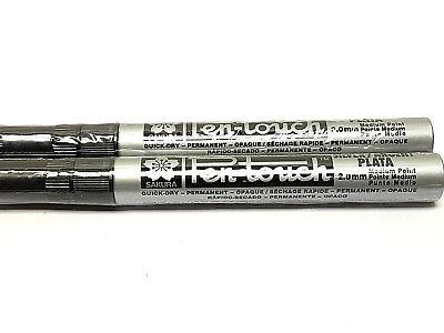 Sakura Pen Touch Paint Marker, Metallic Silver 2.0mm Med 2 each 41502 New! Pen Touch Metallic Marker