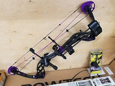 Bowtech Carbon Rose 2017 Compound Bow Package RH 50lbs free ARROWS + release NEW