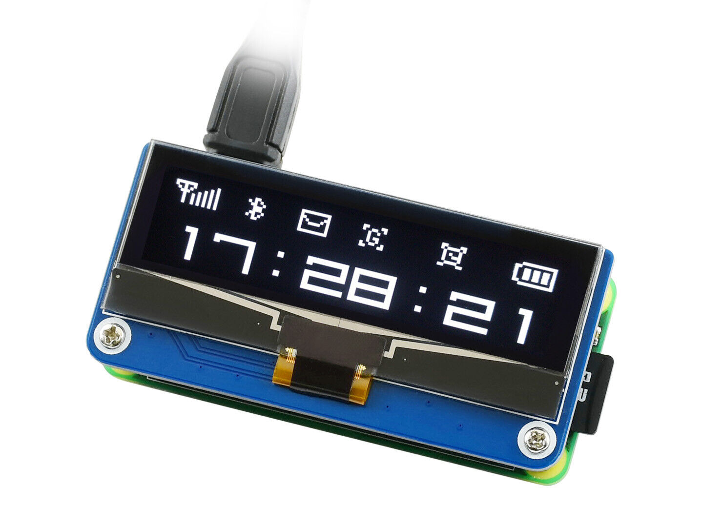 128×32 2.23inch OLED Display Module for Raspberry Pi SSD130