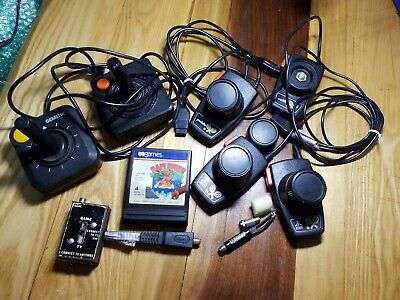 LOT Misc Atari Brand 2600 Paddle Controller Set, New Adapter-UnTested- Fast Ship
