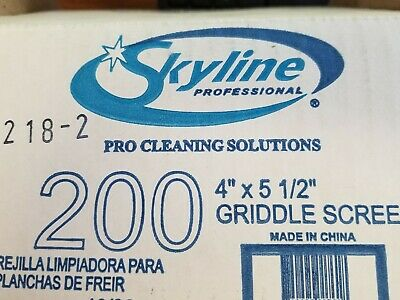 200 Screens One Case Of Skyline Grill Screen Mesh Scraper Cleaner 4 X 5 12