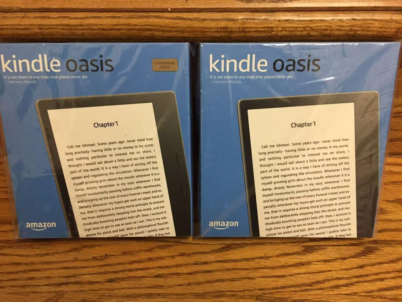 """New Amazon Kindle Oasis  32GB, Wi-Fi, 7"""" waterproof eReader"""