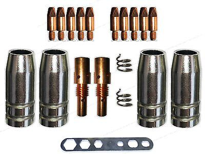 Verschleissteile Set für MB25 / 250 mit Gasdüsen,Düsenstock und 1,0mm Stromdüsen