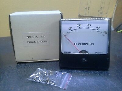 Panel Meter 0 - 500 Milliamps Dc 80mm X 80mm