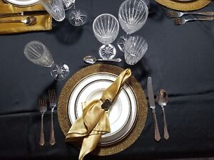 Complete Fine Bone China And Crystal Dining Set