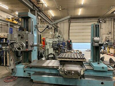 3.5 Tos Table Type Horizontal Boring Mill 1981 With Facing Head And Tailstock