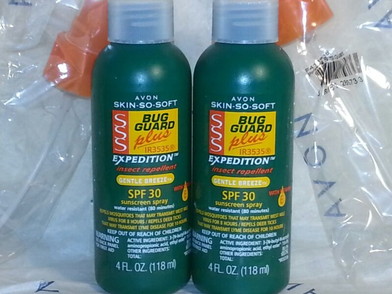 Avon Skin So Soft SSS BUG GUARD insect repellent & sunscreen SPF 30  LOT of 2