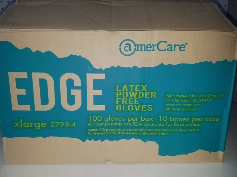 Blue Powder-Free Nitrile Edge Indigo Gloves, Box of 100 size XLARGE MEDIUM,SMALL