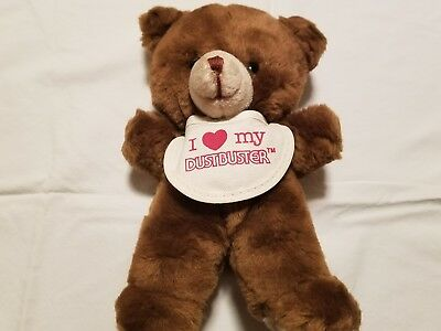 Extremely Rare Vintage Russ Plush Bear Dustbuster Advertising Figure Dusty