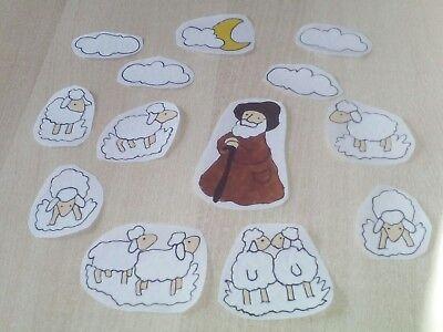 Window Color Fensterbild Schafe mit Schäfer