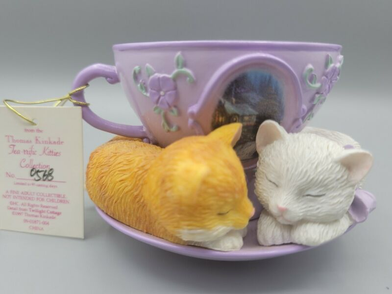 "Thomas Kinkade 1997 ""Tea-rrific Kitties """