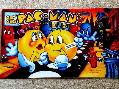 Bally Mr and Mrs PAC Man  pinball machine translite for sale  Shipping to Canada