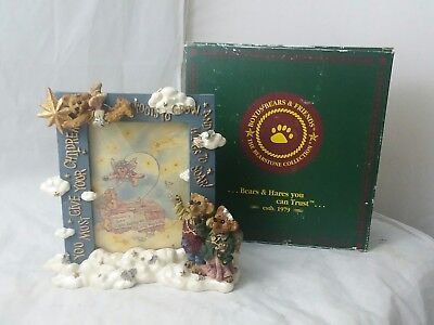 """Boyds Bears and Friends Photo Frame#27300 """"Wings to Soar"""" 1997 Numbered"""