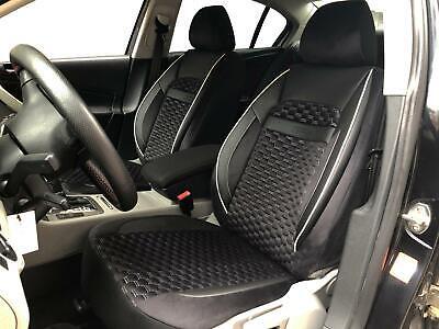 Premium Kunstleder Sitzbezüge Sitzbezug Schonbezüge für VW Passat Schwarz Set