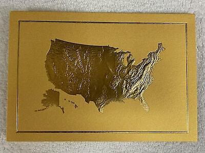 GOLD 2020 White House Christmas New Years Card President Donald Trump Melania