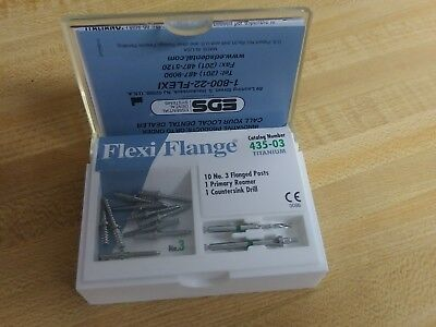 Eds Flexi Flange 435-03 Titanium No. 3 Flanged Posts 10 Incl W Drill Reamer