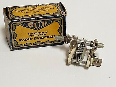 Nos Bud Mc-903 Midget Condenser 50 Mmfd Air Dielectric Variable Capacitor C203