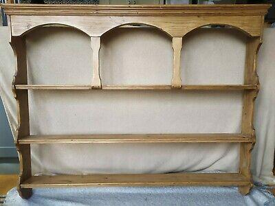 Antique pine wooden wall shelves, dresser, vintage, shabby chic, oak stain