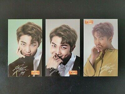 BTS RM BBQ Chicken Photo Card Ver.1 2 RM Official Photo Card 3pcs