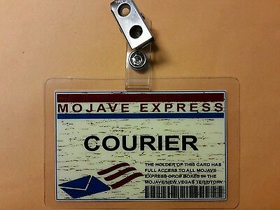 Fallout Id-Plakette - Mojave Express Courier Stil A Cosplay (Fallout Cosplay Kostüm)