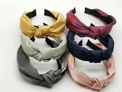 Womens Headband Twist Hairband Bow Knot Cross Tie Ladies Headwrap Hair Bands