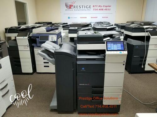 Konica Minolta Bizhub C654e Copier Printer Scanner with Stapling Finisher