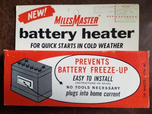 New in Package Vintage Miles Master Battery Heater Warmer